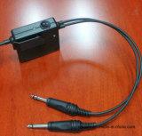 Raytalk Anr 항공 헤드폰은 붐 Micphone에서 달렸다 1000AC