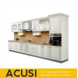 De in het groot Amerikaanse Lineaire Stevige Houten Keukenkasten van de Stijl (ACS2-W07)