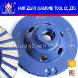 Huazuan 100 mm 터보 컵 회전 숫돌 다이아몬드 바퀴