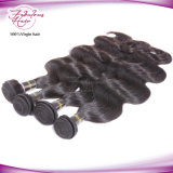 Cor Natural Ondulado Indiano Remy de cabelo humano da trama