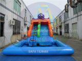 商業Agrde膨脹可能な水スライド、子供のためのプールのスライド