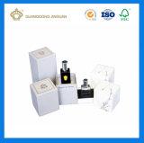 Cadre d'or blanc de parfum de papier cartonné de clinquant de logo de couvre-tapis de luxe (avec le plateau intérieur)