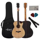 Гитара Cutway Handmade шара 40-Inch тавра Aiersi твердая верхняя акустическая
