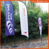3PCS屋外またはイベントの広告するか、またはSandbeach (モデルNo.のためのカスタムナイフの羽のフラグ: Qz-017)