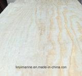Madera contrachapada de la chapa del pino de la madera de construcción 4.5m m de la ciudad de Linyi