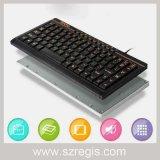 Новая связанная проволокой клавиатура портативного компьютера тонкого шоколада белая