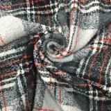 Vorbereiten/Aktien-klassisches Check-Wolle-Gewebe-Rot, Grau u. Weiß
