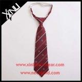 Corbata tejida telar jacquar del poliester para la escuela