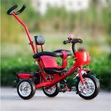 押し棒が付いている子供の子供のベビーカーの自転車の赤ん坊の三輪車のバイク