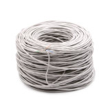 Cat5e UTP cable de red 305m en Electrónica 0,5 mm Paso de Fluke PVC gris