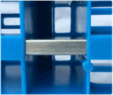 Plastic Pallet 1200*1000*150mm van de Producten van het pakhuis Op zwaar werk berekend 1.5t Maagdelijk HDPE van de Lading van het Rek Plastic Dienblad met de Staaf van Staal 7
