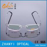 Het lichtgewicht Randloze Frame van de Glazen van Eyewear van het Oogglas van het Titanium Optische met Scharnier (8510-C1)