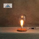 커버 유리 (C5007348-1)를 가진 필라멘트 작풍 장식 테이블 램프