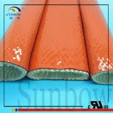 ULの対応シリコーンの上塗を施してあるガラス繊維の袖