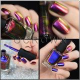 Pigmento em mudança do Chameleon do pó do Glitter do polonês de prego da cor metálica