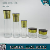 Bottiglie di vetro cosmetiche libere e vasi crema di vetro cosmetici