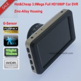 """Un téléviseur mobile portable de haute qualité de 3.0 """"Full HD1080p avec processeur stk 2581 et caméra caméra 2.0 caméra analogique Ov2720 CMOS intégré Capteur G intégré, vision nocturne DVR-3003"""
