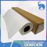 papier de roulis de papier de transfert de textile de la sublimation 100GSM