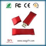 Gift Pendrive van het Huwelijk van de Stokken van het Geheugen USB van het suikergoed de Goedkope
