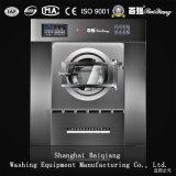 Macchina della lavanderia del riscaldamento di vapore di uso dell'hotel che inclina l'estrattore della rondella (120kg)