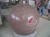 Scultura naturale del granito della sfera di golf