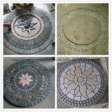 装飾の壁または床のための混合されたカラースレートのモザイク円形浮彫りパターン