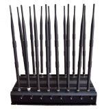 16닢의 안테나 조정가능한 강력한 모든 악대 WiFi UHF VHF GPS Lojack RF 신호 방해기 & 3G 4G 신호 차단제