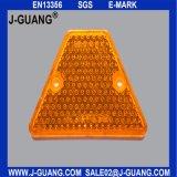 Желтый рефлектор стержня дороги, стержень дороги глаза кота (JG-R-16)