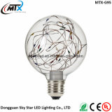 Ampoules LED E27 LED lumières lampe de Noël G95 lampes Star Starry Sky Edison LED feu de feu Filament Retro Xmas Decor Light