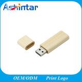 Vara de madeira de Pendrive USB3.0 da memória do USB do quadrado