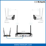 Wireless 1080P 4CH Poe Kit DVR CCTV Cámaras IP