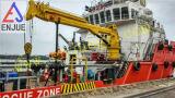 Articolazione idraulica ed infilare la gru della piattaforma ritratta gru della nave dell'asta