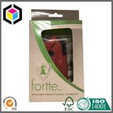 Caixa de empacotamento de papel de suspensão da aba da cor lustrosa para o roupa interior