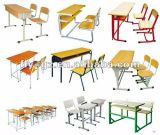 Diseño simple de madera doble de la Escuela Popular de escritorio y silla (SF-08D)
