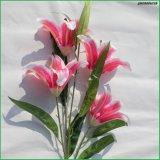 가정 결혼식 훈장 도매업자를 위한 분홍색 실크 인공 꽃 가짜 꽃 백합