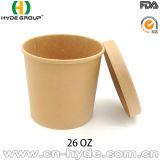 tazza della minestra della carta kraft di 8oz Per alimento caldo