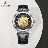 Het echte Horloge Mens Wristwatch72835 van Saphire van het Roestvrij staal van het Leer Automatische