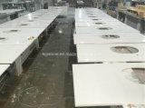 Künstliche weiße Quarz-Steinplatte für Countertop und Eitelkeits-Oberseite