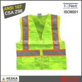 ANSI107メンズ安全黄色の高い可視性のベスト