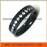 Qualitäts-Form-Schwarzes mit Zircon Jewellry Finger-Ring (CZR2552)