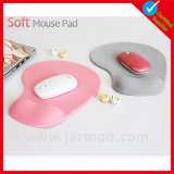 Tapete do rato do resto do pulso da cor cor-de-rosa de alta qualidade