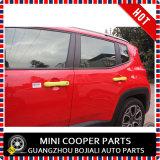 Tampa amarela material do punho de porta do estilo do ABS do auto acessório para o modelo renegado (4PCS/SET)