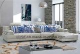 Sofá cómodo del negro del cuero genuino para los muebles de la sala de estar (HX-F606)