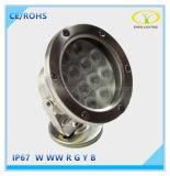 12W luz subacuática inoxidable RGB del acero LED