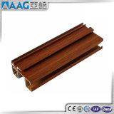 Perfil estándar de aluminio de madera del color 6063-T5 de la mejor calidad