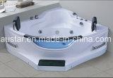 STAZIONE TERMALE d'angolo della vasca da bagno di massaggio di 1550mm con dal Ce di punto e RoHS per 2 la persona (AT-9807)