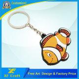 Suporte chave de borracha chave do anel dos peixes por atacado dos desenhos animados/PVC a preço barato (XF-KC-P20)