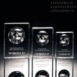 Trophée Solid Crystal Globe Block Award Crystal Cube Trophy