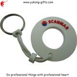 欧州共同体友好的な円形PVC Keychainゴム製キーホルダー(YH-KC070)