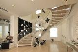 현대 새겨진 목제 나선형 계단 또는 실내